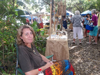 Terry at Yellowwood Forest market in Morgan Bay in April 2014