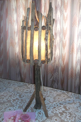 driftwood lamp shade
