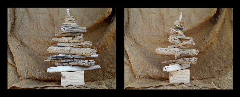 small driftwood Christmas trees in South Africa