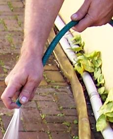 using a garden hose pipe