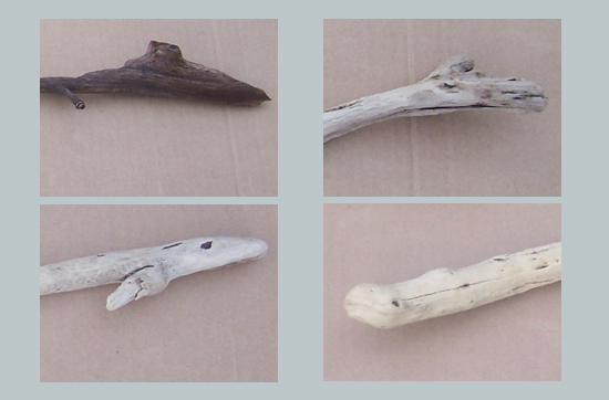 driftwood heads for toy animals