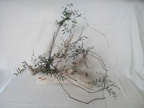 driftwood wedding table centerpiece