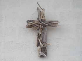 driftwood cross wall hanging